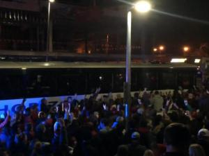 NC State team bus arrives after win over UNC
