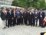 The 1983 NC State basketball team visits the White House