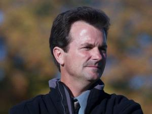 North Carolina women's soccer coach Anson Dorrance watches his team during a Thursday, Oct. 18, 2001, game against Clemson at Fetzer Field in Chapel Hill, N.C.