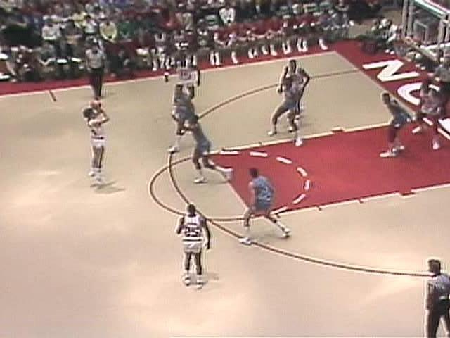 Image result for 1982-83 ACC 3 point line