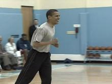 Obama joins Tar Heels on hardwood