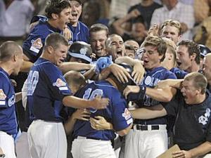 UNC's Tim Federowicz beats LSU with a grand slam home run. Photo courtesy InsideCarolina.com.