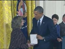 Full ceremony: Dean Smith receives Medal of Freedom