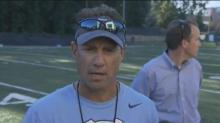 UNC head coach Larry Fedora addresses the media after practice
