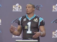 Cam Newton meets media