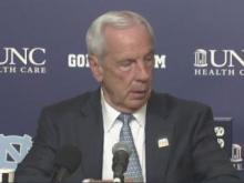 UNC head coach Roy Williams addresses media after 90-83 Tar Heels win over Duke