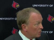 University of Louisville officials hold news conference