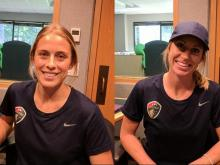 Abby Dahlkemper and McCall Zerboni