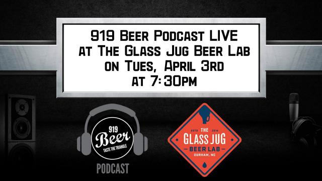 919 Beer Podcast LIVE at The Glass Jug Beer Lab