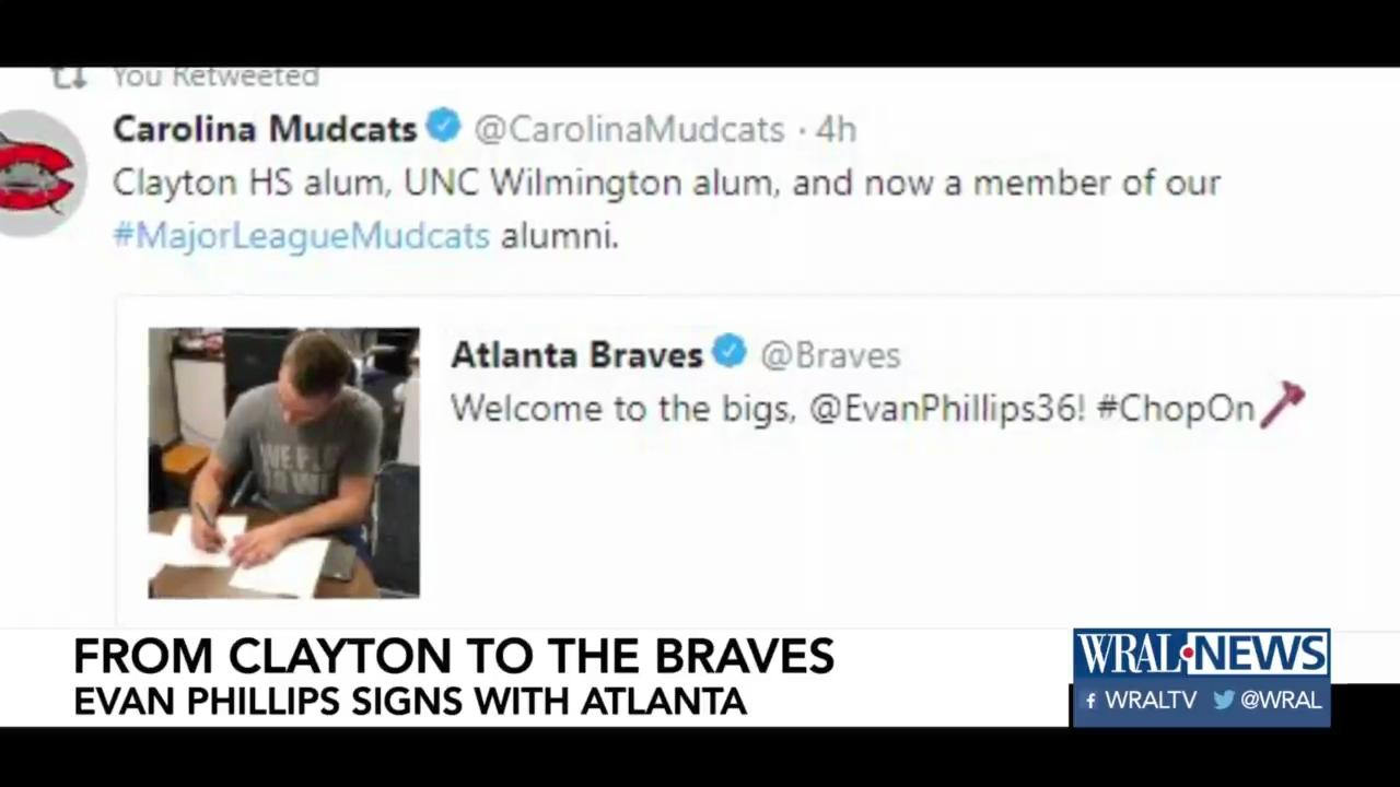 Former Mudcat, Clayton's Evan Phillips earns call to the