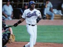 Outfielder Carl Crawford while with the Durham Bulls.