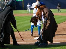 The Durham Bulls celebrated Star Wars night at Durham Bulls Athletic Park Sunday by beating Columbus 6-2.