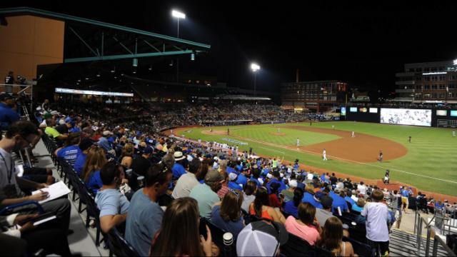 A general view of the Durham Bulls Athletic Park during Triple-A All Star Game action at the Durham Bulls Athletic Park on July 16, 2014 in Durham, NC. (Will Bratton/WRAL contributor)