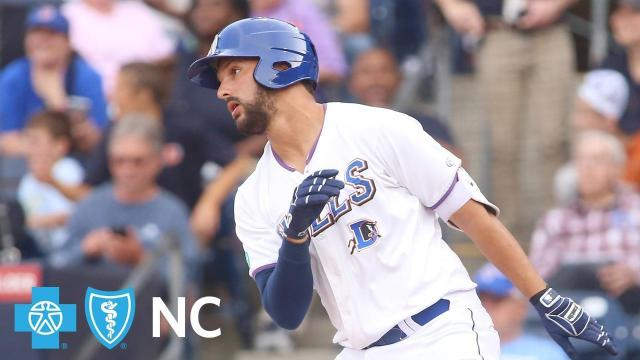 Taylor Featherston emerged as the hero for the Durham Bulls Saturday night, as the right fielder's seventh inning grand slam propelled the Bulls to a 6-3 win over the Scranton/Wilkes-Barre RailRiders at the DBAP.