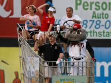 The Carolina Mudcats downed the Lynchburg Hillcats 4-1 Friday, Aug. 23, 2013.