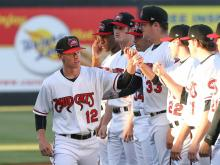 Mudcats hold off Myrtle Beach in home opener, 3-2