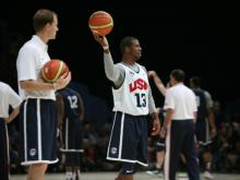 Basketball players on Team USA practiced in Washington, D.C., on Saturday, July 14, 2012, before the Summer Olympics.