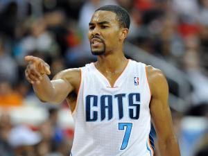 Charlotte Bobcats point guard Ramon Sessions (7)  during tonights game. Miami Heat  defeats Charlotte Bobcats  98-92 during the the pre-season game at PNC Arena in Raleigh North Carolina.