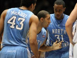 North Carolina's Kendall Marshall during the Tar Heels' ACC regular season title-clinching 88-70 win at Duke on Saturday, March 3, 2012 in Durham, NC (photo by Jack Morton).