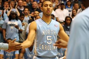 North Carolina's Kendall Marshall prior to the Tar Heels' 88-70 win at Duke on Saturday, March 3, 2012 in Durham, NC (photo by Jack Morton).