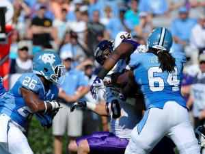 North Carolina Tar Heels running back Giovani Bernard #26 carries the ball up the middle.North Carolina defeats East Carolina 27-6 at Kenan Stadium in Chapel Hill North Carolina.