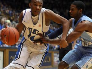 Duke's Rasheed Sulaimon during the Blue Devils' 73-68 victory over North Carolina on Wednesday, February 13, 2013 in Durham, NC (Photo by Jack Morton).
