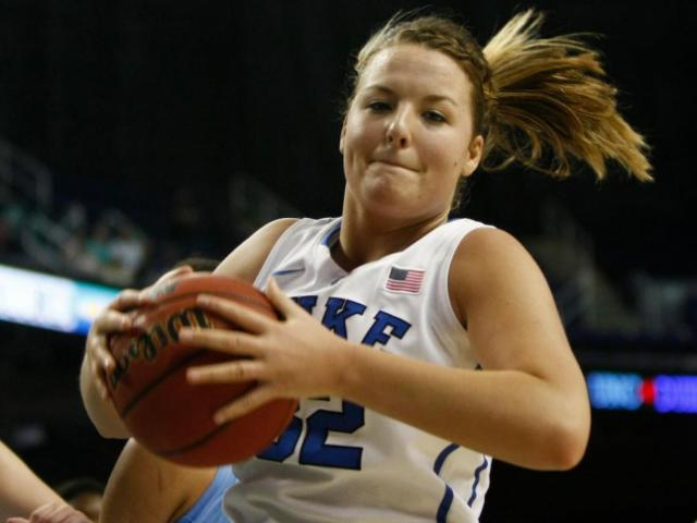 Tricia Liston was among the Blue Devils players in double digits in Sunday&#039;s win.<br/>Photographer: Jerome Carpenter