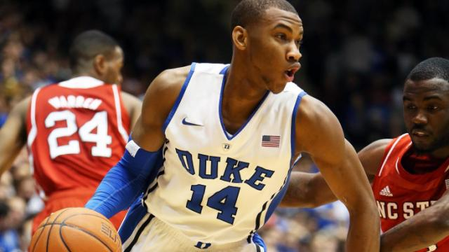 Duke's Rasheed Sulaimon during the Blue Devils' game versus NC State on Saturday, January 18, 2014 in Durham, NC.  Duke defeated NC State 95-60.  (Photo by Jack Morton)