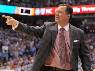 NC State head coach Mark Gottfried during action at the Dean E. Smith Center between the North Carolina Tar Heels and the North Carolina State Wolfpack on February 1, 2014 in Chapel Hill, NC. (Will Bratton/WRAL contributor)