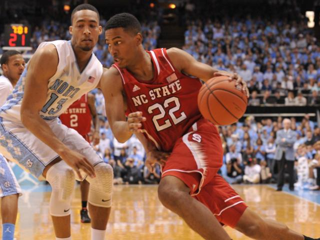 Ralston Turner (22) dribbles to the basket during action at the Dean E. Smith Center between the North Carolina Tar Heels and the North Carolina State Wolfpack on February 1, 2014 in Chapel Hill, NC. (Will Bratton/WRAL contributor)
