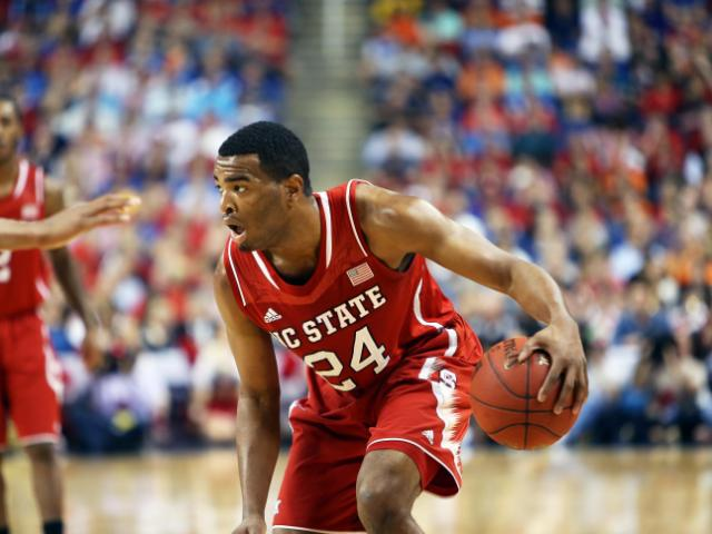 NC State's T.J. Warren during the Wolfpack's ACC Tournament game verus Duke on Saturday, March 15, 2014 in Greensboro, NC.  Duke won 75-67.  (Photo by Jack Morton)