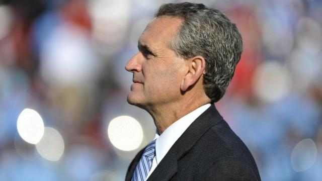 UNC athletic director Bubba Cunningham during NCAA football action at Kenan Stadium between the North Carolina Tar Heels and the North Carolina State Wolfpack on November 29, 2014 in Chapel Hill, NC. (Will Bratton/WRAL contributor)