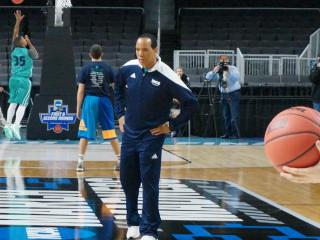 UNC-Wilmington took to the court Wednesday ahead of their match-up with Duke in Providence in the first round of the NCAA Tournament.