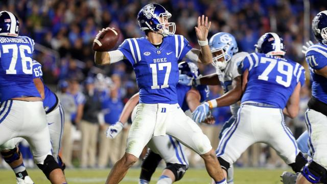Duke upsets No. 15 UNC 28-27
