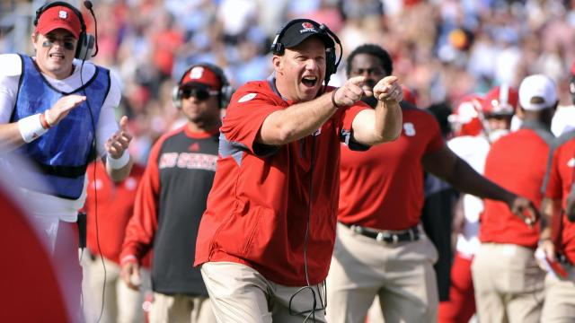 NC State head coach Dave Doeren during NCAA football action at Kenan Stadium between the North Carolina Tar Heels and the North Carolina State Wolfpack on November 25, 2016 in Chapel Hill, NC. (Will Bratton/WRAL contributor)