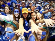 With pithy posters and plenty of facepaint, the Cameron Crazies readied to welcome crosstown rivals UNC.