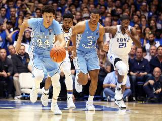 North Carolina's Justin Jackson during the Tar Heels' game at Duke on Thursday, February 9, 2017 at Cameron Indoor Stadium in Durham, NC.  Duke won 86-78.  (Photo by Jack Morton)