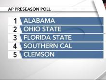 AP releases preseason Top 25