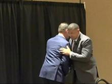 Coaches laugh, look ahead at Triangle Tip-Off luncheon