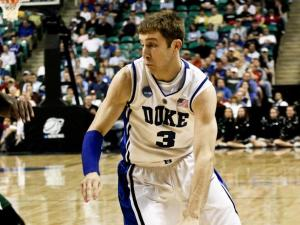 Greg Paulus drives to the basket for the Blue Devils against Binghamton during the first round of the NCAA Tournament.