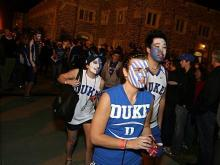 Fans show their colors with clothing, wigs and facepaint as the ACC basketball season comes to a head.