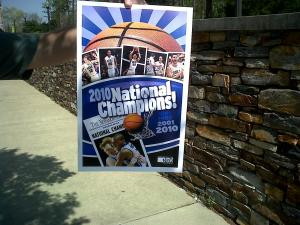 Duke's Cameron Indoor Stadium is decked to welcome the men's national basketball champions.