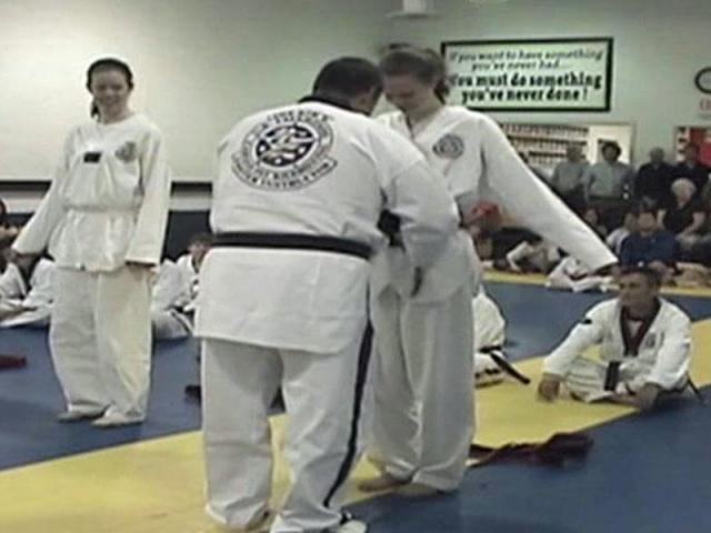 Brittney Balser earned her black belt in tae kwon do in May.