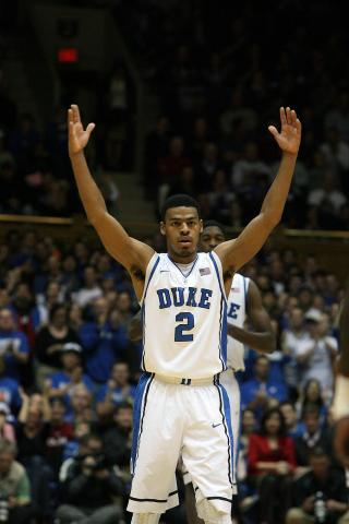 Duke's Quinn Cook during the Blue Devils' 76-54 win over Elon on Thursday, December 20, 2012 in Durham, NC (Photo by Jack Morton).