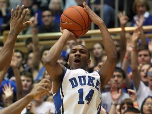 Duke's Rasheed Sulaimon during the Blue Devils' 84-64 victory over Maryland on Saturday, January 26, 2013 in Durham, NC (Photo by Jack Morton).
