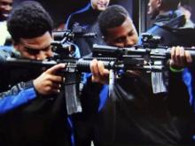 Duke basketball players with guns