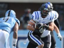 No. 24 Duke defeated North Carolina 27-25 Saturday, Nov. 30, 2013 at Kenan Stadium.