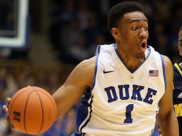 Duke's Jabari Parker during the Blue Devils' game versus Michigan on Tuesday, December 3, 2013 in Durham, NC.  Duke defeated Michigan 79-69 (Photo by Jack Morton).
