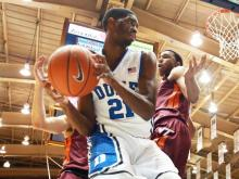 Behind Rodney Hood's 21 points, No. 6 Duke defeated Virginia Tech 66-48 Tuesday, Feb. 25, 2014 at Cameron Indoor.