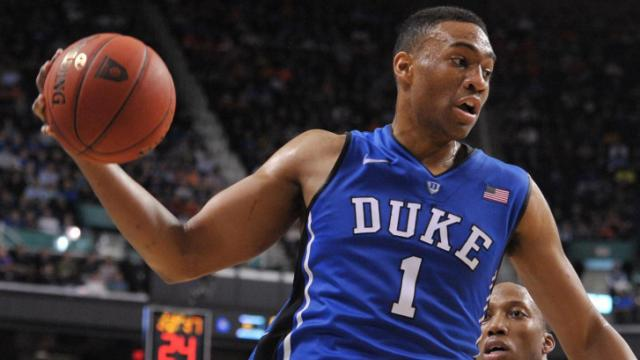 Jabari Parker (1) during the finals of the 2014 Men's ACC Basketball Tournament at the Greensboro Coliseum between the Duke Blue Devils and the Virginia Cavaliers on March 16, 2014 in Greensboro, NC. (Will Bratton/WRAL contributor)